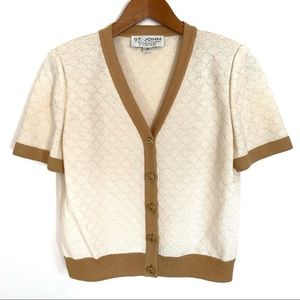ST. JOHN COLLECTION Knit Cardigan Sweater